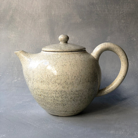 Mashiko Crackle Kohiki Back Handle Teapot #8