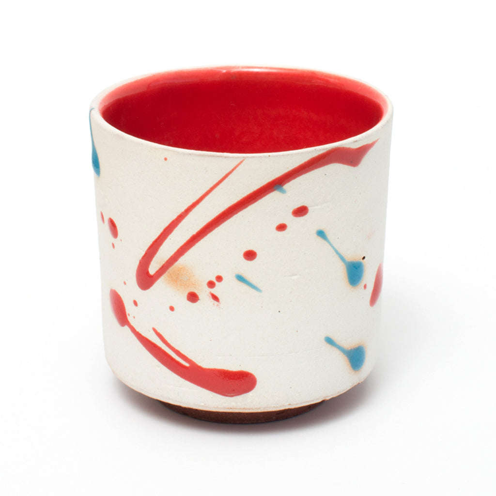 Tanba Red Yunomi Cups