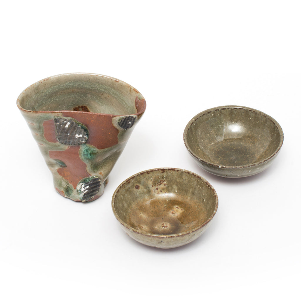 Tanba Shell Katakuchi Sake Set 3pc
