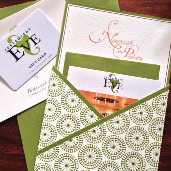 Personalized Restaurant Eve Gift Card