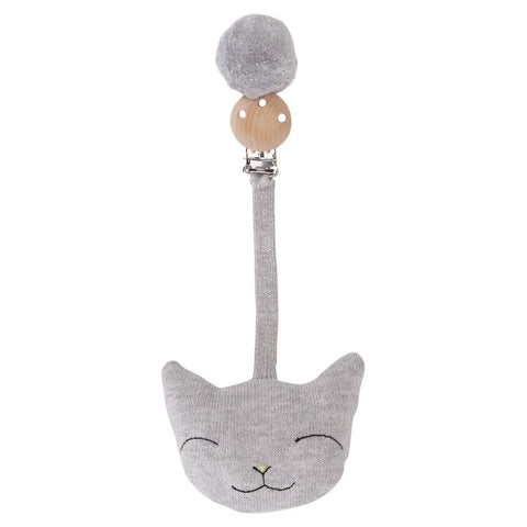 KONGES SLØJD pram toy / Clip cat grey melange