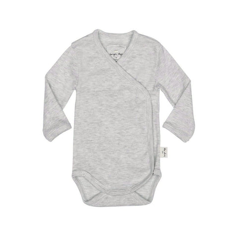 KONGES SLØJD newborn body / Light grey melange