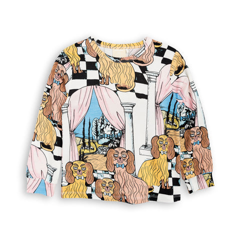 MINI RODINI bluse / Oh La La dashing dogs