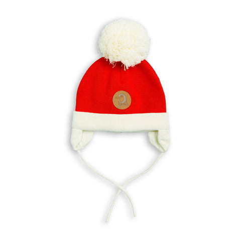 MINI RODINI hue / Penguin baby hat red