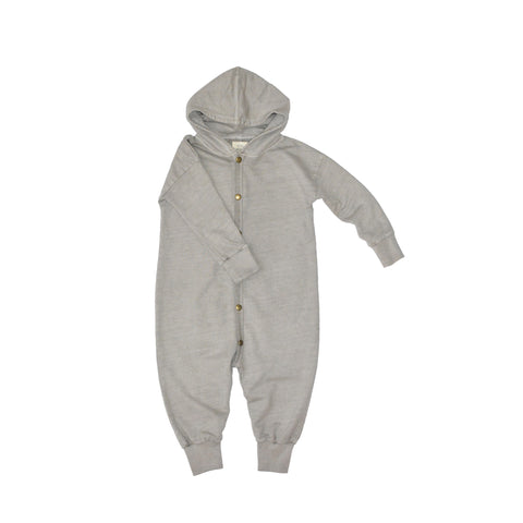 LITTLE URBAN APPAREL heldragt / Hoodie romper sand