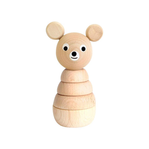 SARAH & BENDRIX / Wooden stacking bear (Barnaby)