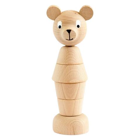 SARAH & BENDRIX/ Wooden stacking bear (Benedict)