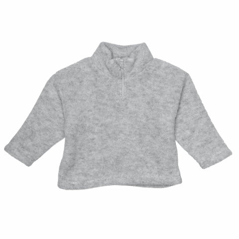 ENGEL sweat m lynlås / Uldfleece grey melange
