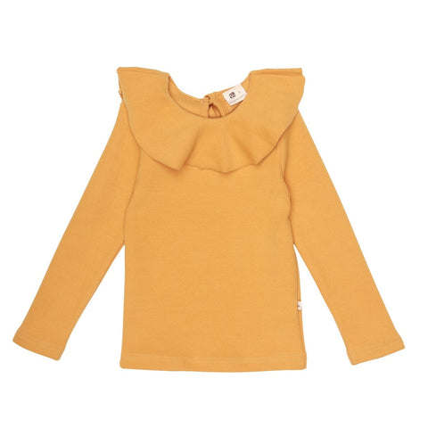 LALA bluse / Pitch ruffle T YELLOW