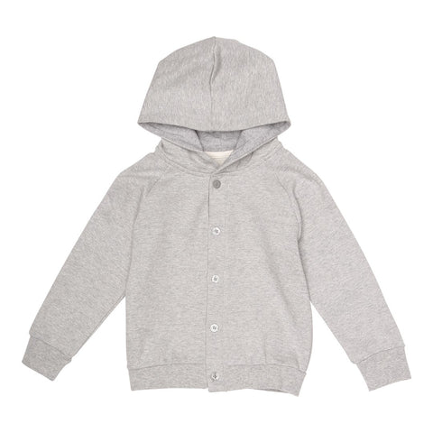 MILK COTTON bluse / Sweat cardigan grey