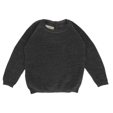 KONGES SLØJD uld strikbluse / Hysken wool DARK GREY
