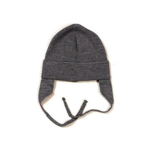 HUTTELIHUT uld hue / Baby ear flap dark grey