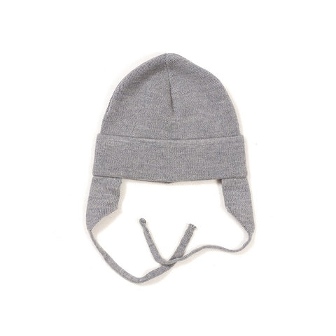 HUTTELIHUT uld hue / Baby ear flap light grey