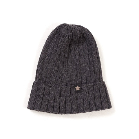 HUTTELIHUT beanie / Strik fold-up dark grey