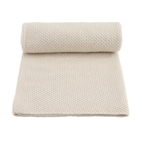 KONGES SLØJD blanket / New stitch off white melange