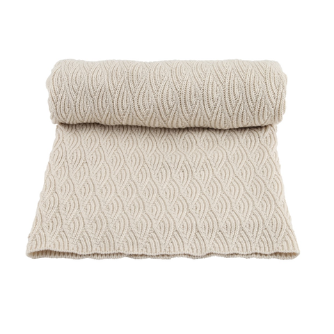 KONGES SLØJD blanket / Pointelle off white melange