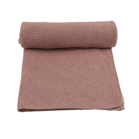KONGES SLØJD blanket / New stitch rose fawn