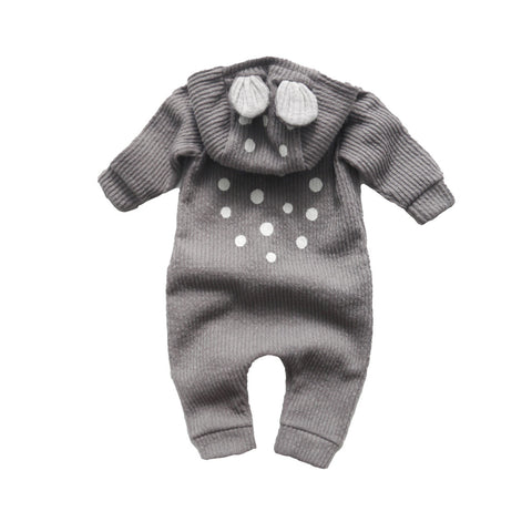 LALA heldragt / My bambi suit grey (fleece)
