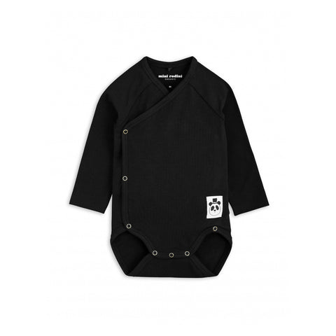 MINI RODINI body / Basic wrap newborn black