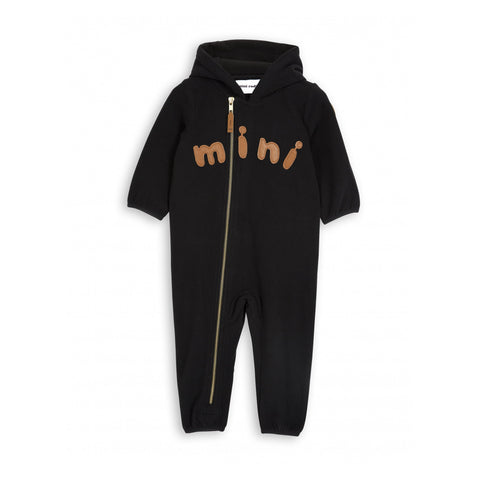 MINI RODINI fleecedragt / Fleece onesie black