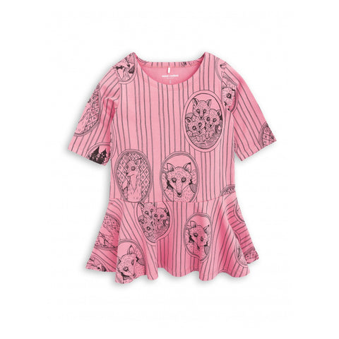 MINI RODINI kjole / Fox family pink