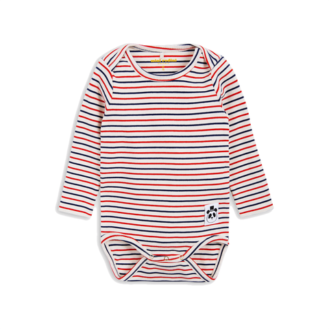 MINI RODINI body / Stripe rib ls