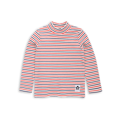 MINI RODINI bluse / Stripe rib turtle neck