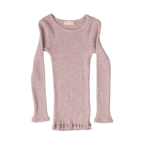 MINIMALISMA uld bluse / Atlantic dusty rose