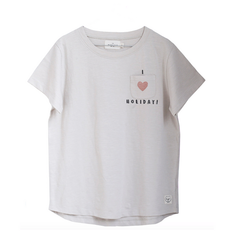 MONSIEUR MINI bluse / Mom tee 'I love holiday'