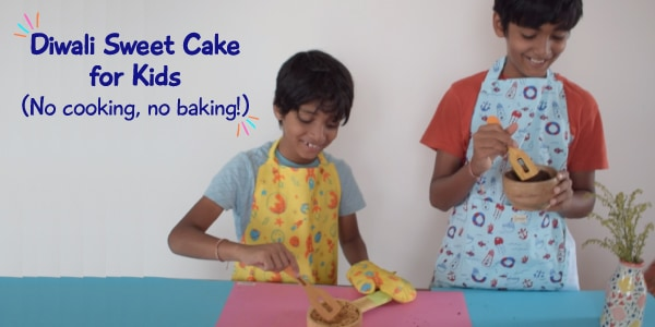 No-cook, No-bake sweet cake recipe for kids | Diwali special!