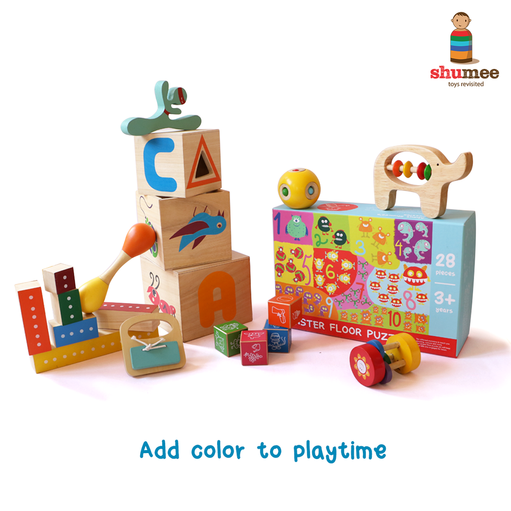 Toys for babies and toddlers? Splash on some colour and see what happens!