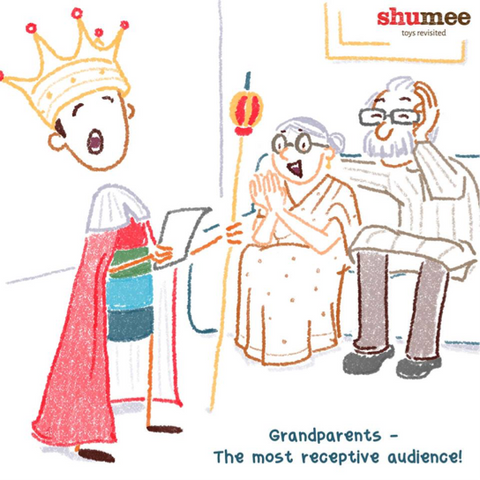 Grandparents - The most receptive audience -  Shumee wooden toys