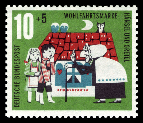 A stamp immortalizing Hansel and Gretel - Shumee