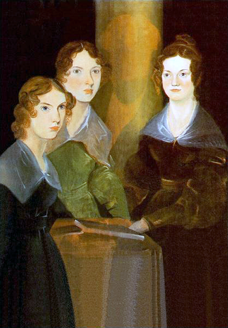 Charlotte, Emily & Anne Bronte in  a painting made by their brother, Branwell  - Shumee