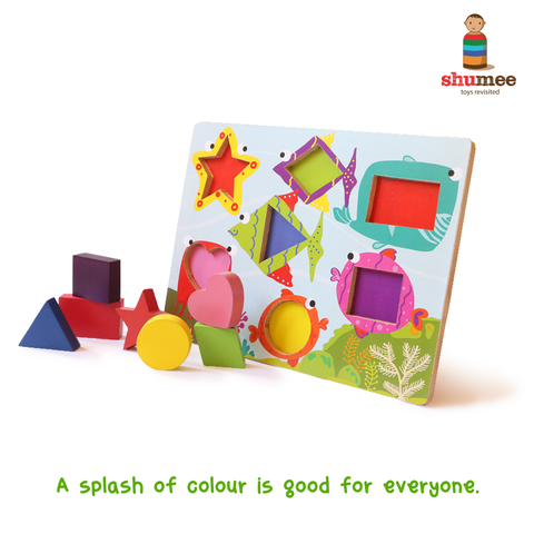 wooden puzzle set for toddlers