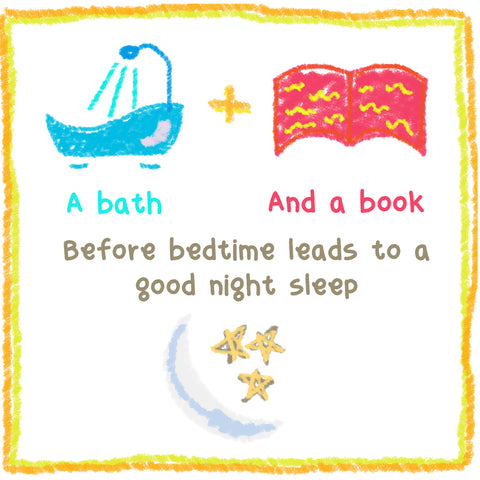 Bath and book before bed time leads to good sleep for kids