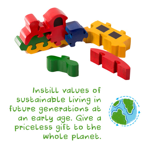 Shumee sustainable and safe wooden toys for babies