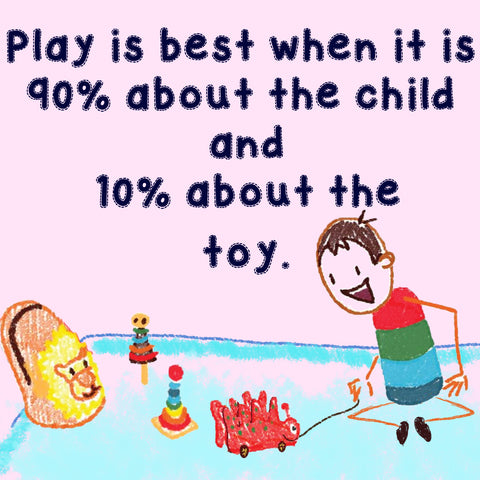 play is best when child drives the play