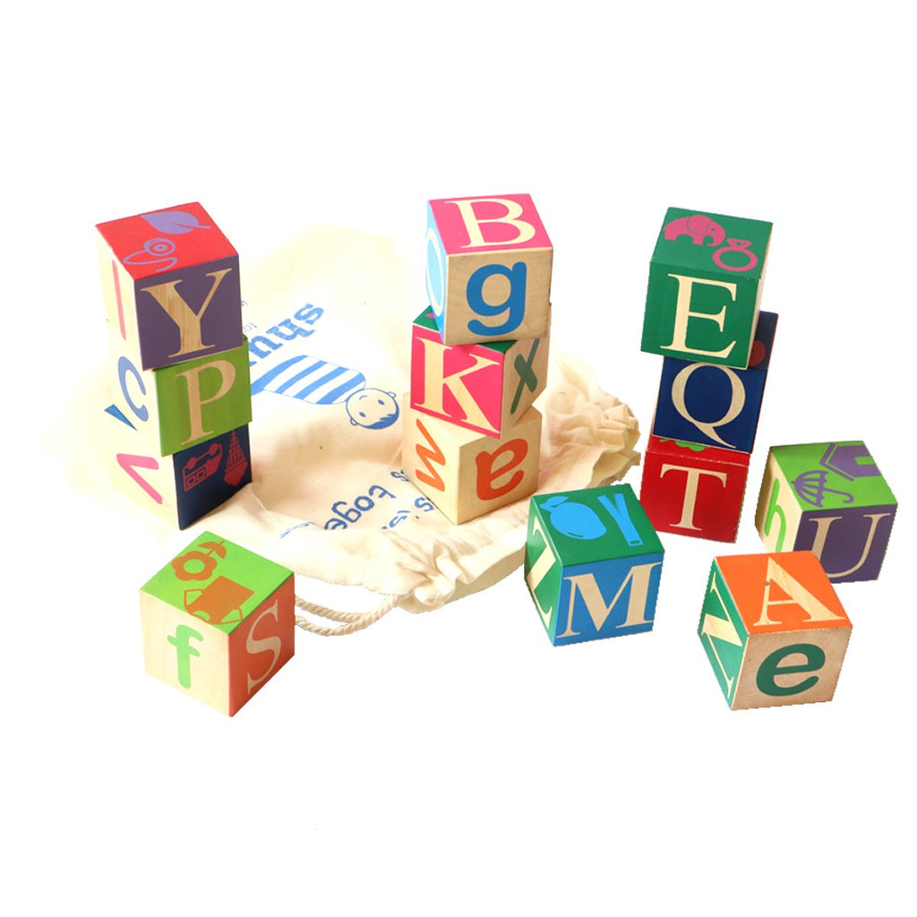Kids Large Wooden Alphabet Blocks | Free Shipping - Shumee