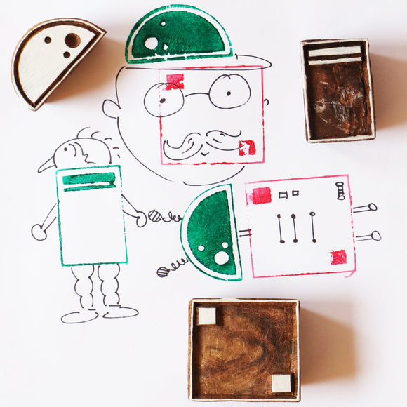 Shape Shifter Wooden Stamps Set | Free Shipping - Shumee