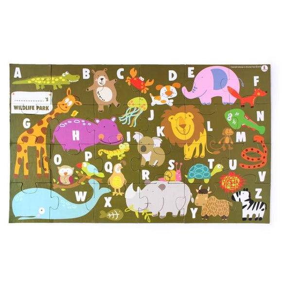 Buy Wooden Animal Alphabet Puzzle | Free Shipping - Shumee