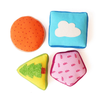 Plush Delight - Textured Shapes | Free Shipping - Shumee