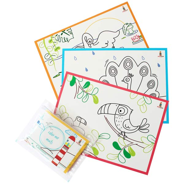 Coloring Mats for Toddlers - Fly Buddy | Free Shipping - Shumee
