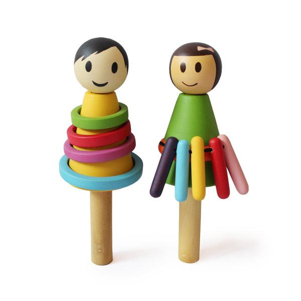 Baby girl and boy rattle-Shumee