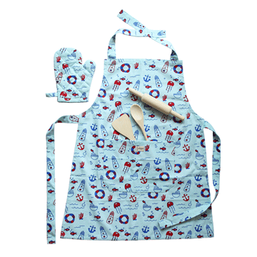 Lil Chef's Apron set- Naughty Nautical