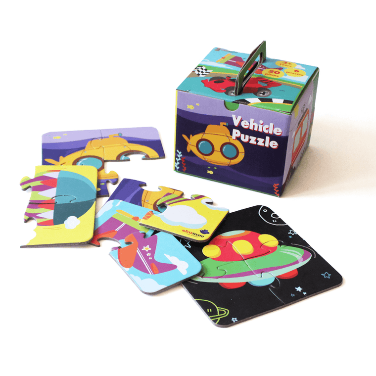 Vehicle Puzzle for Kids | Set of 6 Puzzles | Free Shipping - Shumee
