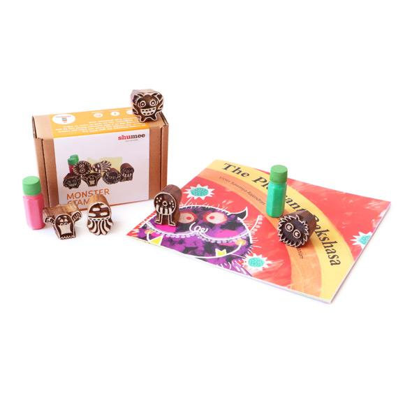 Monsters Galore - Fun Book and Stamp Combo | Free Shipping - Shumee