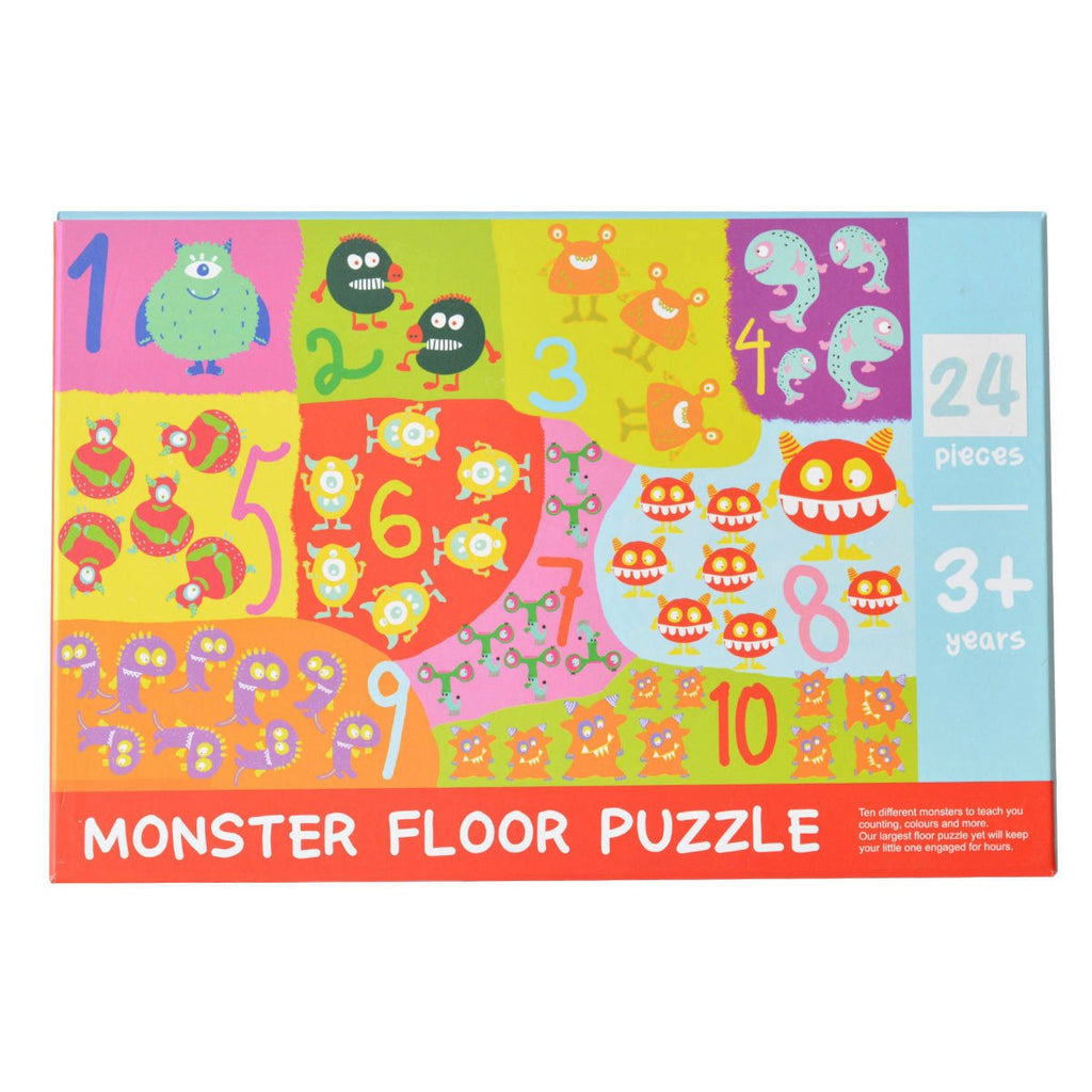 Pack of monster puzzle pieces for kids