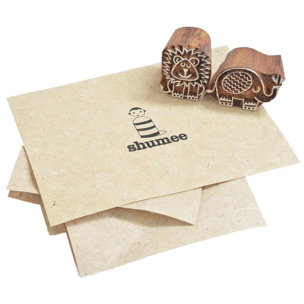 Wooden stamp set - Ele and Leo - Shumee