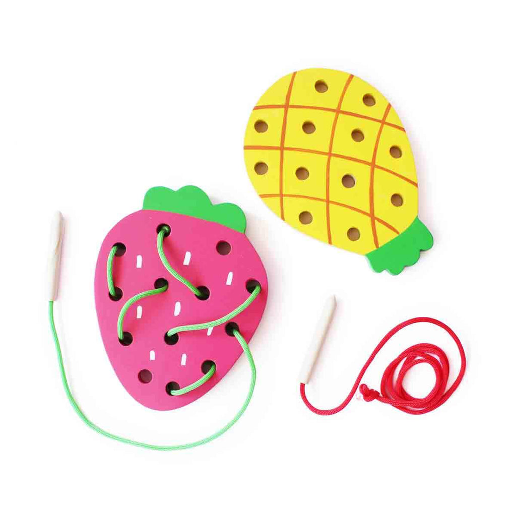 Fruit Wooden Lacing Set (2 pcs)